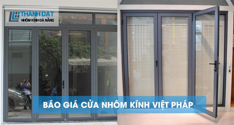 báo giá cửa nhôm kính Việt pháp đà nẵng